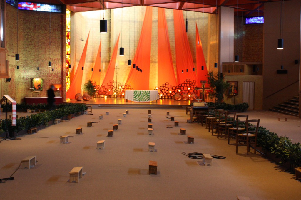 Interiors of Taizé's Church of Reconciliation